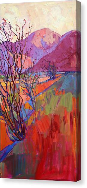 Mojave Desert Canvas Print - Ocotillo Triptych - Right Panel by Erin Hanson