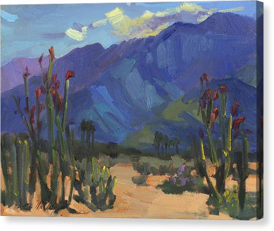 Mojave Desert Canvas Print - Ocotillos At Smoke Tree Ranch by Diane McClary