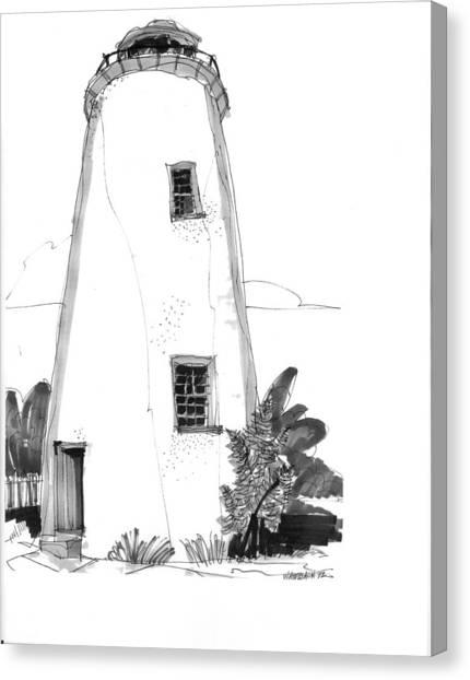 Ocracoke Light 1970s Canvas Print