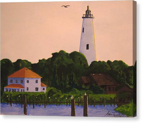 Ocracoke Lighthouse Canvas Print