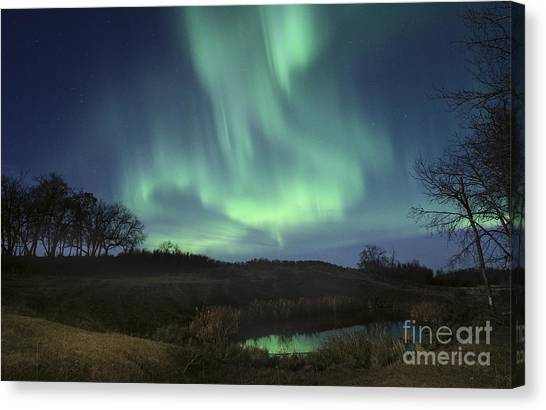 October Aurora Canvas Print