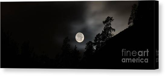 October Full Moon II Canvas Print by Phil Dionne