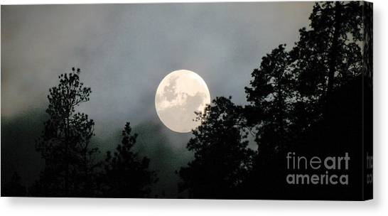 October Full Moon Iv Canvas Print by Phil Dionne