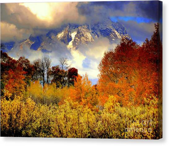 October In Grand Tetons Canvas Print