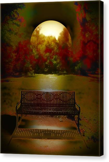 October Moon Canvas Print