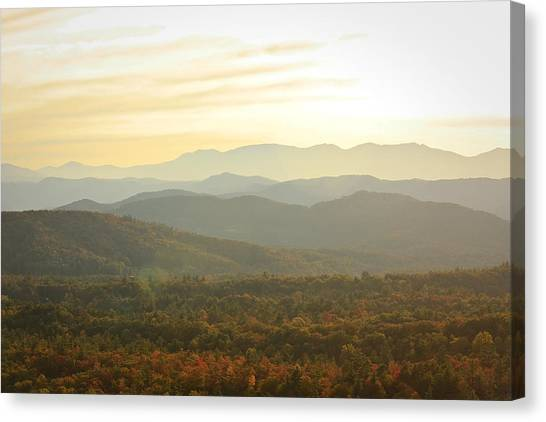 October Mountains Canvas Print