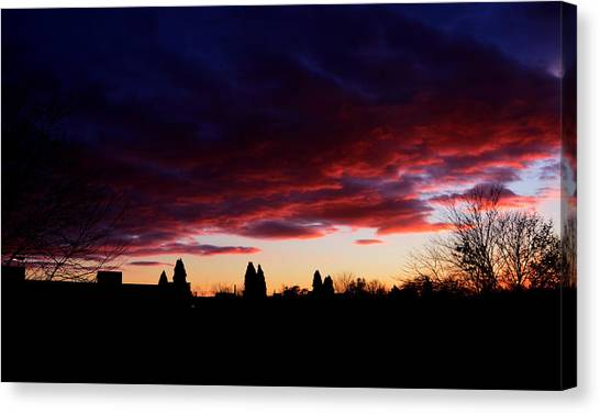 October's Last Sunset Canvas Print