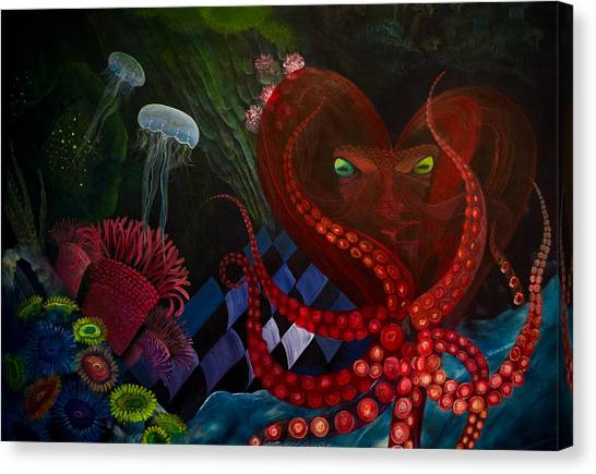Octopus Heart Canvas Print