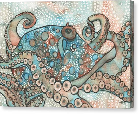Octopus Canvas Print - Octopus by Tamara Phillips
