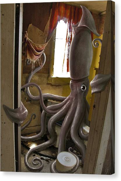 Squids Canvas Print - Ocupados by Mark Zelmer