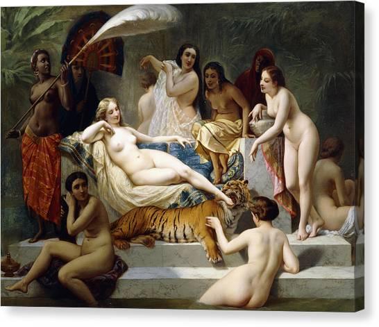 Harem Canvas Print - Odalisque by Henri Pierre Picou