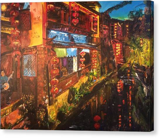 China Town Canvas Print - Ode To Lovers by Belinda Low