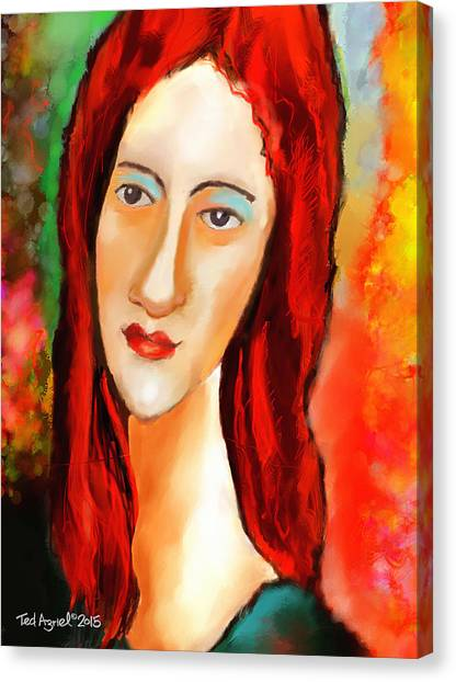 Ode To Modigliani Canvas Print