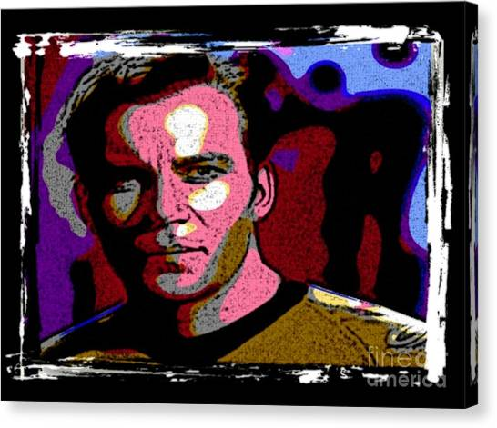 James T. Kirk Canvas Print - Ode To Star Trek by John Malone
