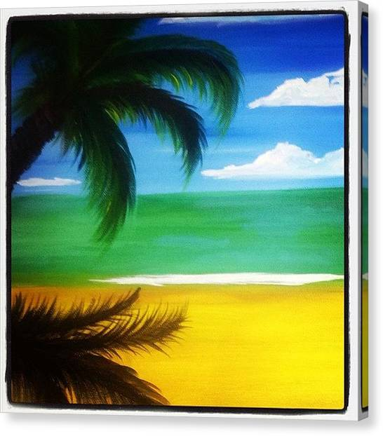 Palm Trees Canvas Print - Ode To The Tropics by Go Inspire Beauty
