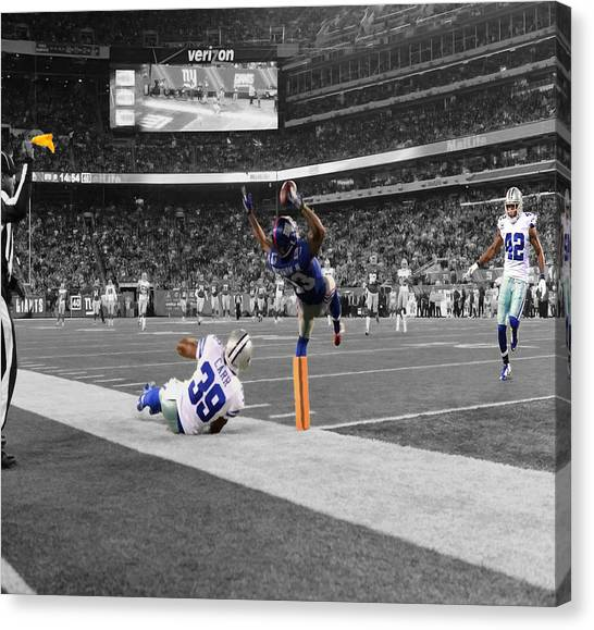 New York Giants Canvas Print - Odell Beckham Breaking The Internet by Brian Reaves