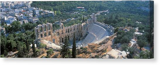 The Acropolis Canvas Print - Odeon Tu Herodu Attku The Acropolis by Panoramic Images