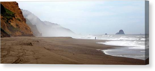 Of Solitude And Sand Canvas Print