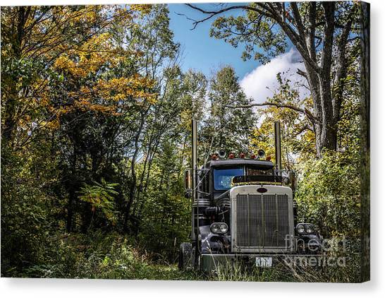 New Hampshire Canvas Print - Off Road Trucker by Edward Fielding