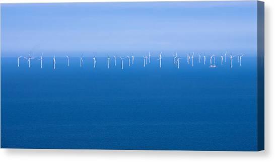 Off-shore Wind Farm Canvas Print