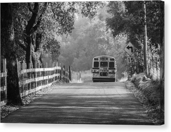 Canvas Print featuring the photograph Off To School 2 by Sherri Meyer