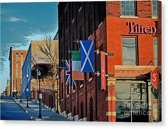 Tap Dance Canvas Print - Off To The Tilted Kilt by Luther Fine Art