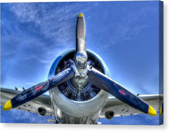 Prop Planes Canvas Print - Off We Go by Paul Wear