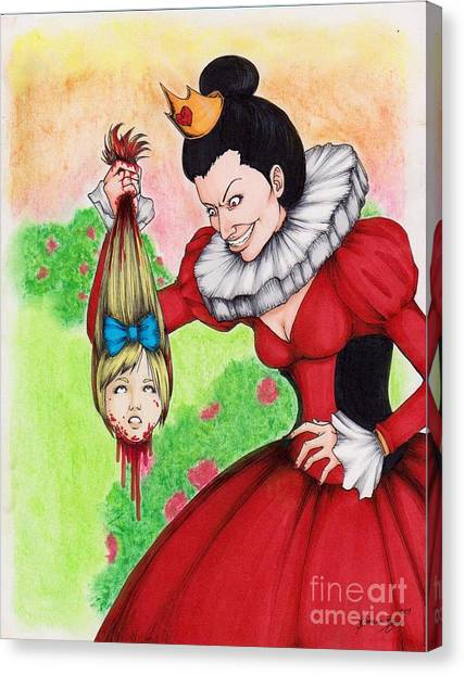 Off With Her Head Canvas Print by Bibo