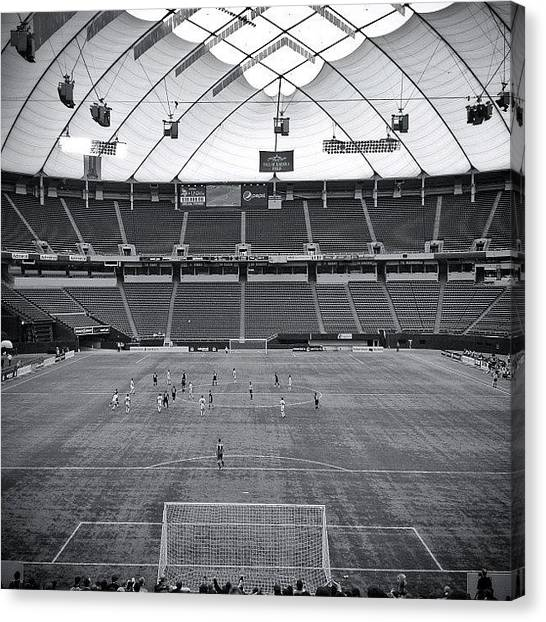 Goal Canvas Print - #offcenter #goal #metrodome by Mike S