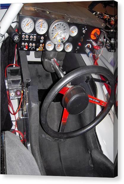 Jeff Gordon Canvas Print - Office For A Race Driver by Don Struke