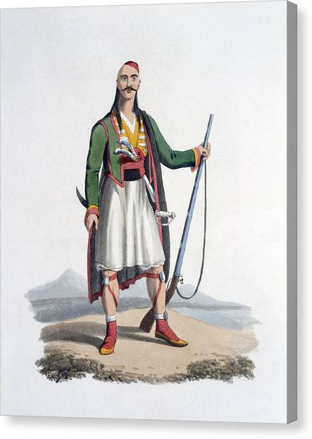 Turkish Canvas Print - Officer Of The Spahis, 1818 by English School