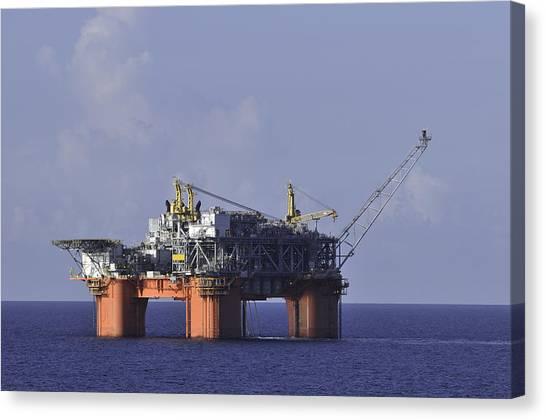 Offshore Production Platform Canvas Print