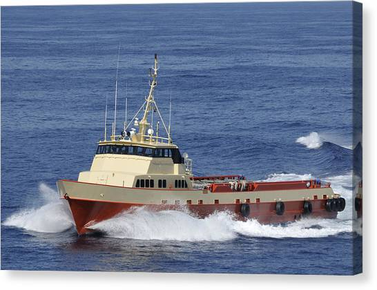 Offshore Supply Vessel Canvas Print