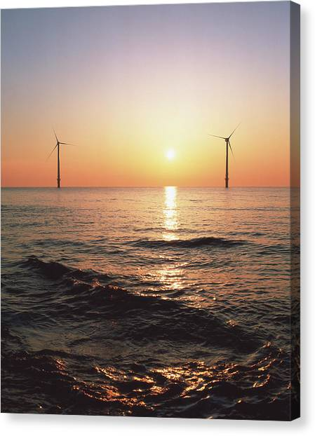 Wind Farms Canvas Print - Offshore Wind Farm by Martin Bond/science Photo Library