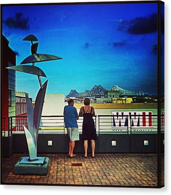 World War Ii Canvas Print - Ogden Museum Rooftop New Orleans by Glen Abbott