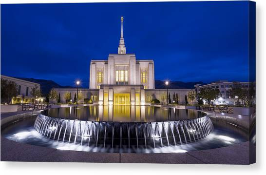 Judaism Canvas Print - Ogden Temple II by Chad Dutson