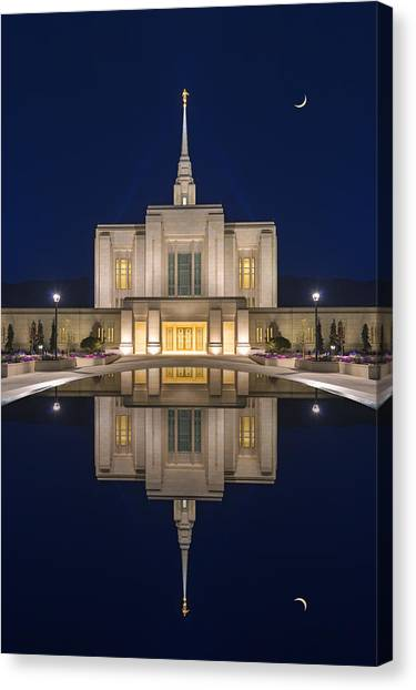 Ogden Temple Reflection Canvas Print