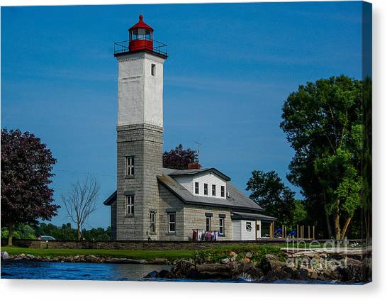 Ogdensburg Light House Canvas Print