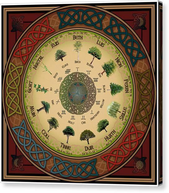 Ogham Tree Calendar Canvas Print