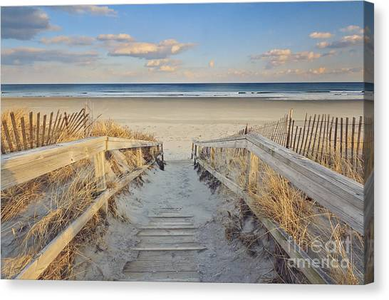 Maine Canvas Print - Ogunquit Beach Boardwalk by Katherine Gendreau