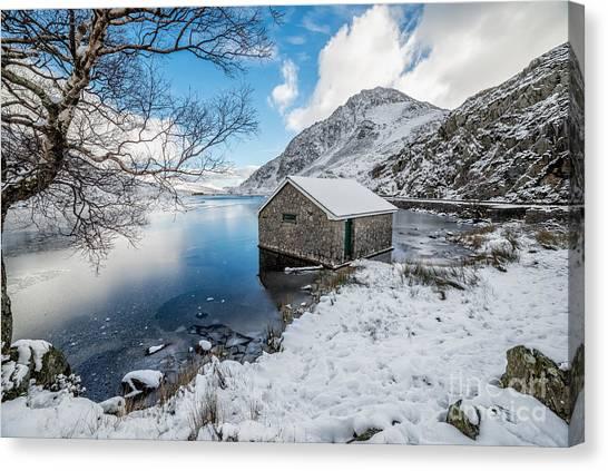 Ogwen Canvas Print - Ogwen Boat House by Adrian Evans