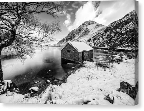 Ogwen Canvas Print - Ogwen Boat House V2 by Adrian Evans