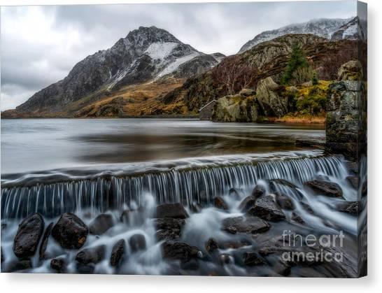 Tryfan Mountain Canvas Print - Ogwen Weir by Adrian Evans