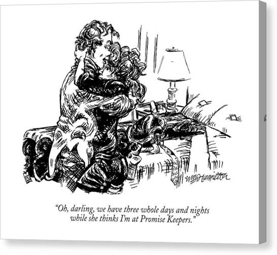Keeper Canvas Print - Oh, Darling, We Have Three Whole Days And Nights by William Hamilton