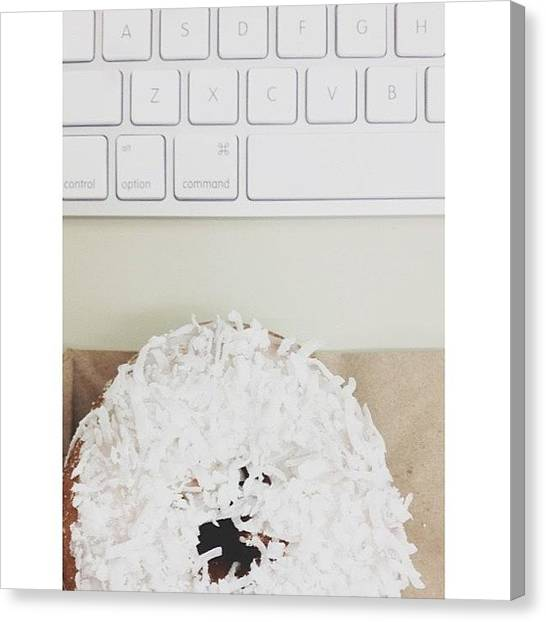 Metropolis Canvas Print - Oh Man, It's A #coconut #donut Day by Rachel Morris