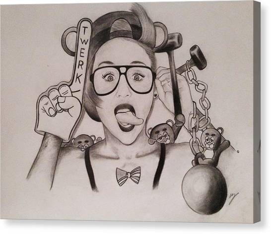 Teddy Bears Canvas Print - Oh Miley by Taylor Bou