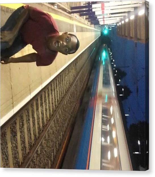 Trainspotting Canvas Print - Oh My Gawd It's A #bullettrain by Simba Mandizha