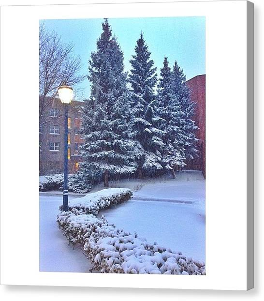 Big East Canvas Print - Winter Wonderland by Ariana Moshref