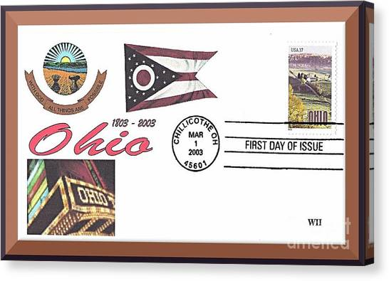 Ohio Bicentennial Cover #2 Canvas Print