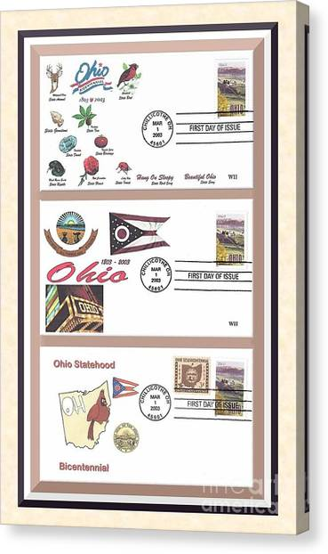 Ohio Bicentennial First Day Covers Canvas Print